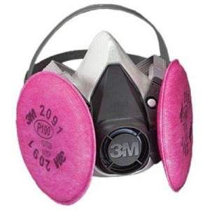 3M Half Facepiece Respirator Assembly w/ Particulate Filters