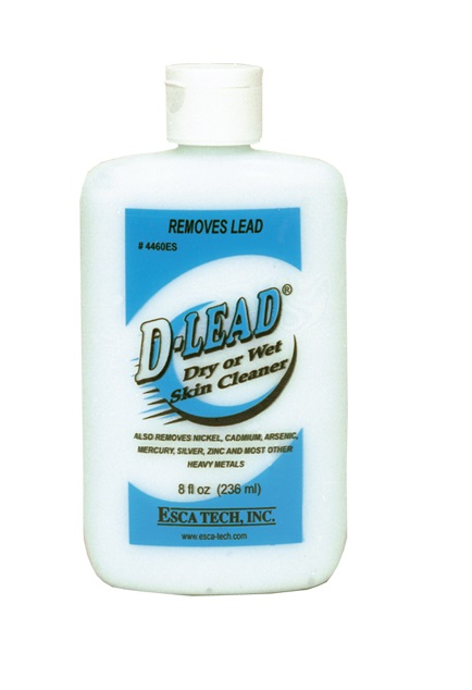 Esca Tech D-Lead Wipe or Rinse Skin Cleaner (8oz Bot.Case of 24)