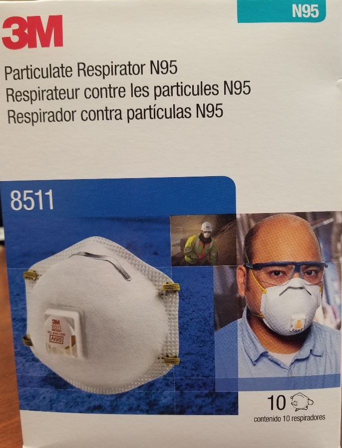 3M 8511 N95 Respirator Particulate with Cool Flow Valve