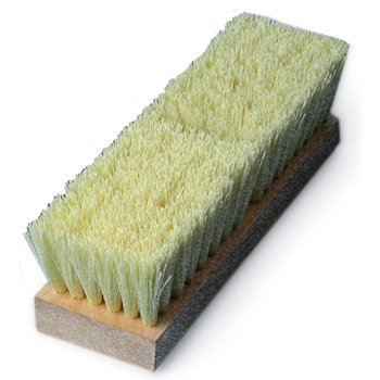 Cream Colored Polypropylene Deck Brush