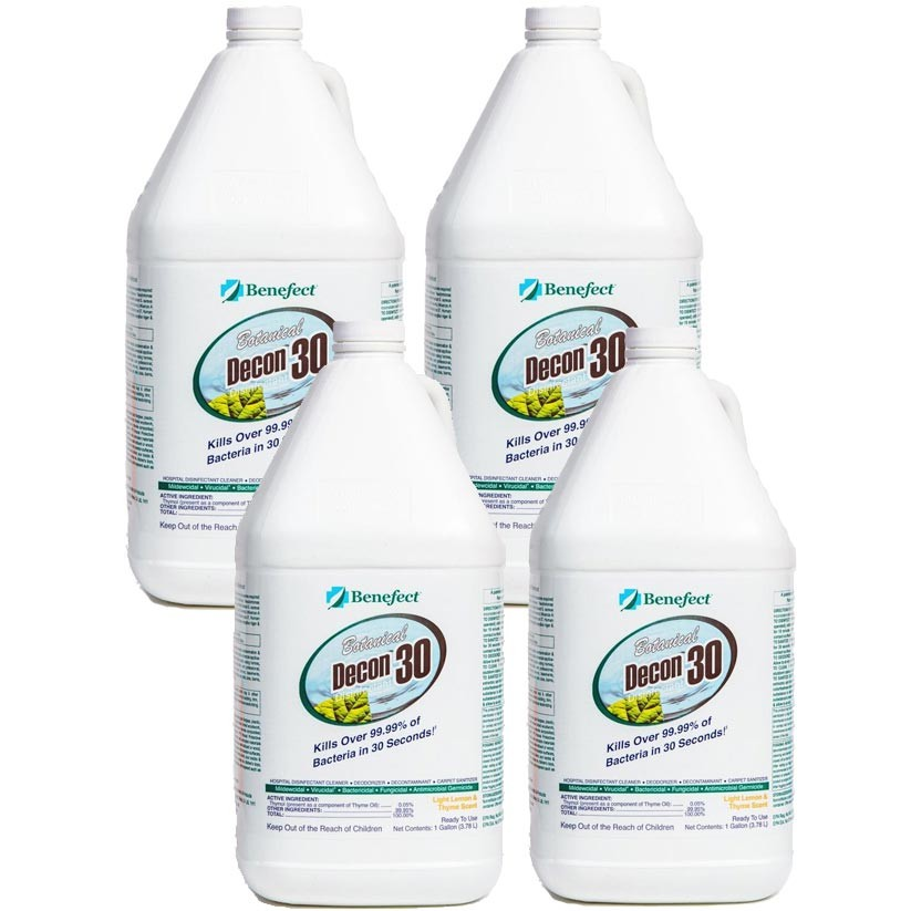 Benefect Botanical Decon 30 Desinfectant Cleaner/ 4Gal X Case