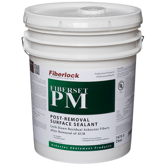 FIBERSET PM-UL CLASSIFIED LOCKDOWN CLEAR X 5GAL