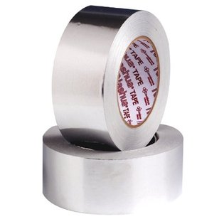 "Foil Tape 2"" x 50 Yds/ Silver With Liner/ 24 Rolls Per Case/ Rol"