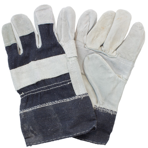 Gloves Leather Palm Safety / 12PR-PK / 10PK-CA