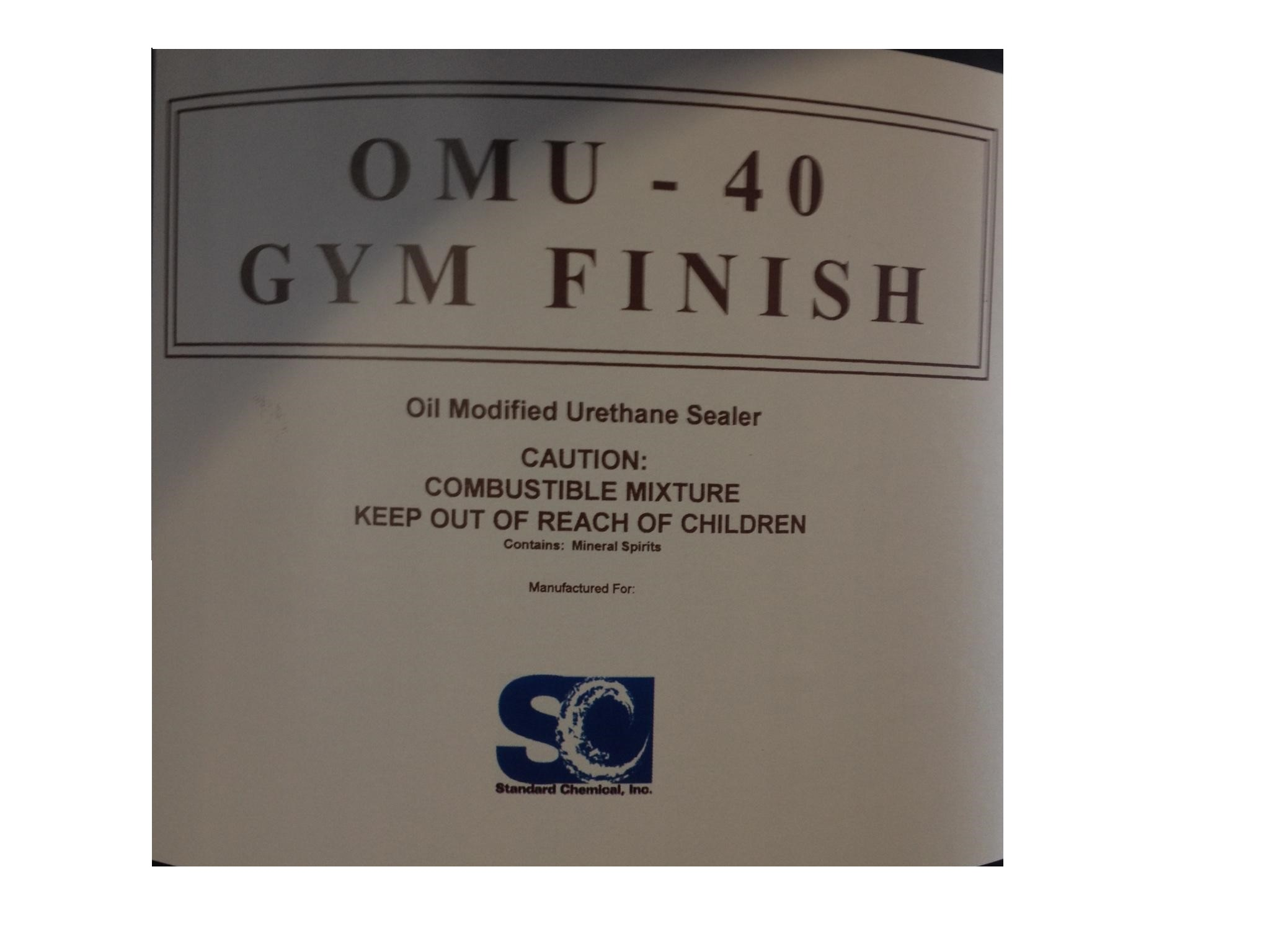 Gym Floor Finish 5 Gal Pail