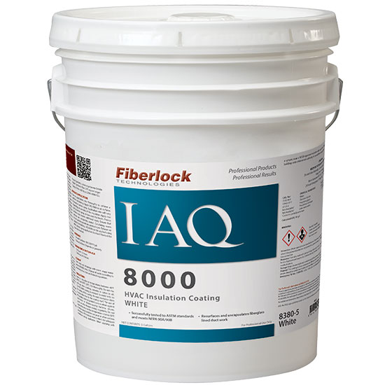 IAQ 8000-HVAC INSULATION SEALER - WHITE X 5 GAL