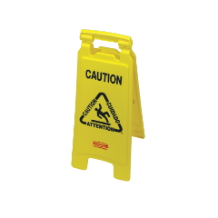 Folding Yellow Caution Sign (Multilingual)