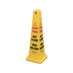 Multilingual Yellow Safety Cone