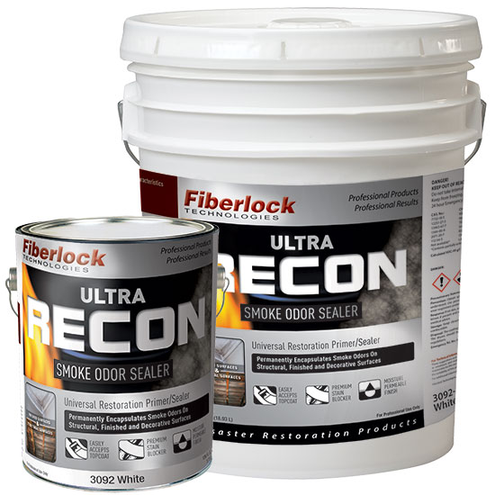 RECON ULTRA SMOKE ODOR SEALER - WHITE X 1GAL (4/CASE)