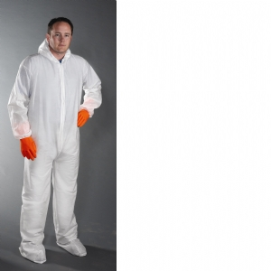 Posi Wear BA Microporous Coverall w/ Hood and Boot Lg