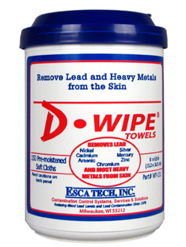 ESCA TECH D-LEAD WIPES 8X1 CASE