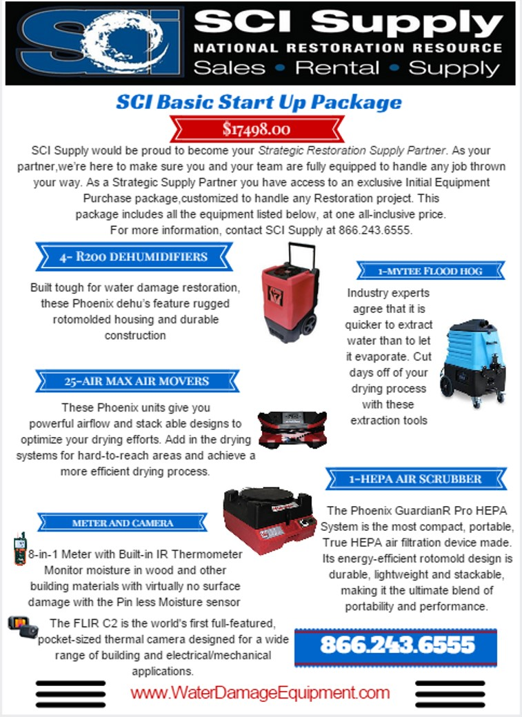 Restoration Equipment Start-up Package- Basic
