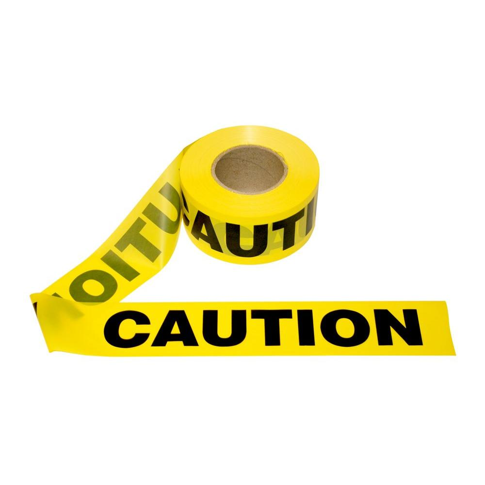 Caution Tape Bar 3Inx100 /8 per Case / Yellow. EA