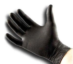 Black Powder Free Nitrile Gloves X-Large