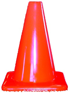 "28"" Safety Cone with Orange Base 6.5lbs"