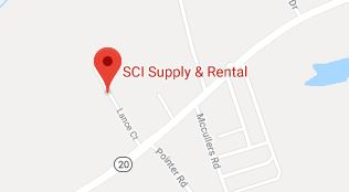map for SCI Supply and Rental
